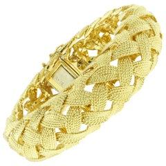 Tiffany & Co. Wide Woven Gold Bracelet