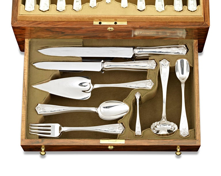 Other Tiffany & Co. Winthrop Silver Flatware Service For Sale