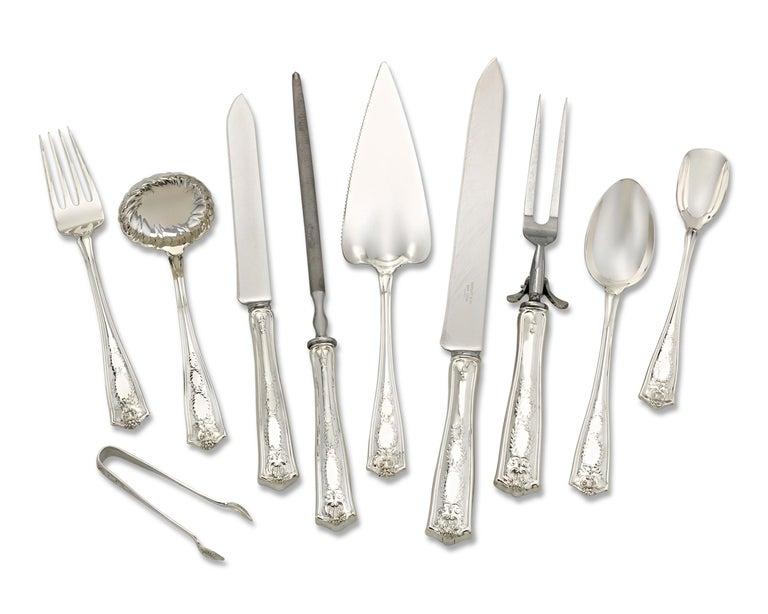 American Tiffany & Co. Winthrop Silver Flatware Service For Sale