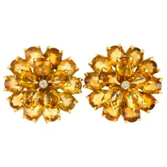 Tiffany & Co. with Citrine and Diamonds Earrings