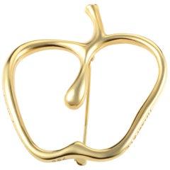 Tiffany & Co. Women's 18 Karat Yellow Gold Openwork Apple Brooch AK1B3591