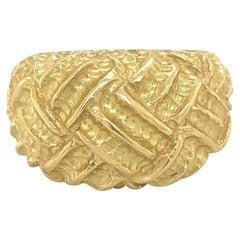 Tiffany & Co. Woven Design Dome Ring