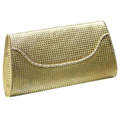 Tiffany & Co. Woven Gold Evening Bag