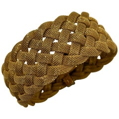 Tiffany & Co. Woven Gold Mesh Bracelet