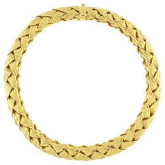 Tiffany & Co. Woven Wide Gold Necklace