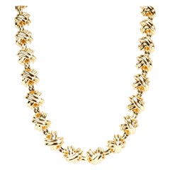 Tiffany & Co. X Necklace in 18 Karat Yellow Gold