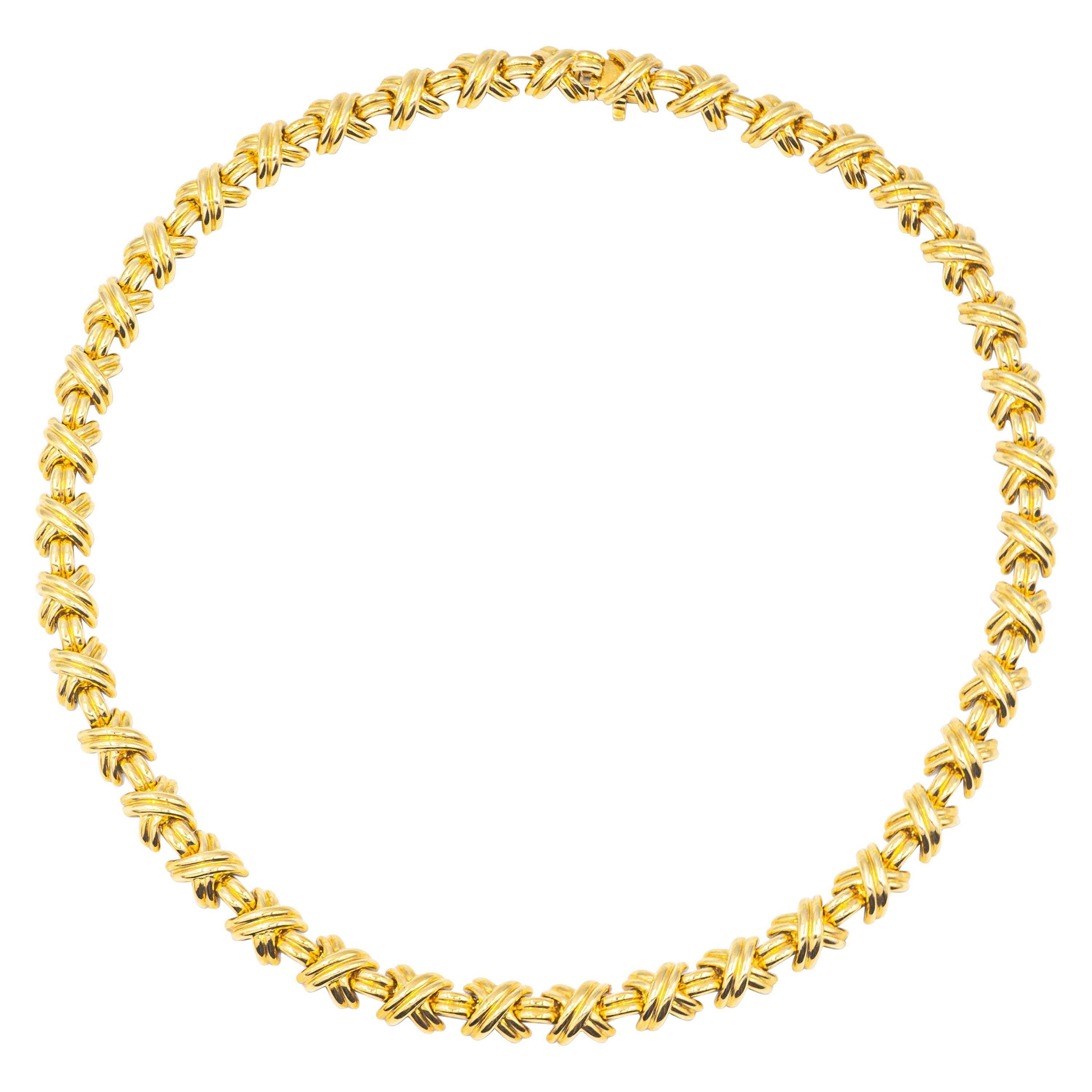 Tiffany & Co. X Signature Collection Choker Necklace 18k Yellow Gold