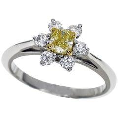 Tiffany & Co. Yellow Diamond 18 Karat Yellow Gold Platinum Buttercup Ring