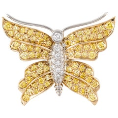 Tiffany & Co. Yellow Diamond Butterfly Pin