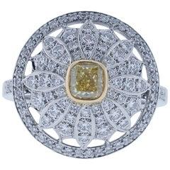 Tiffany & Co. Yellow Diamond Daisy Cocktail Ring Platinum