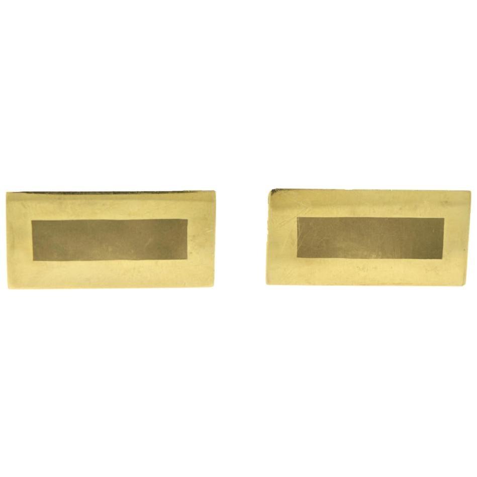 Tiffany & Co. Yellow Gold 14 Karat Rectangular Cufflinks