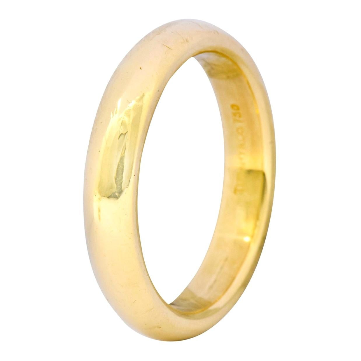 Tiffany & Co. Yellow Gold Plain Wedding Band Ring, Estate