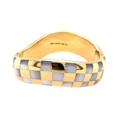Tiffany & Co. Yellow Gold and Mother of Pearl Bangle Bracelet