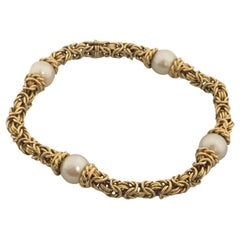 Tiffany & Co. Yellow Gold and Pearl Bracelet