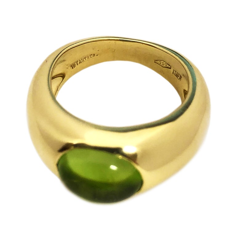 Women's Tiffany & Co. Yellow Gold and Peridot Ring For Sale