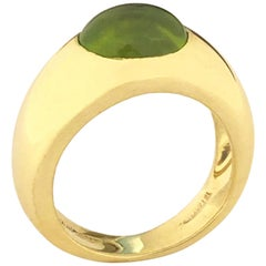 Tiffany & Co. Yellow Gold and Peridot Ring