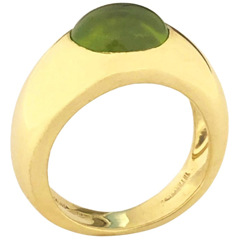 Tiffany & Co. Yellow Gold and Peridot Ring For Sale