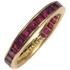 Tiffany & Co. Yellow Gold and Ruby Eternity Band Ring
