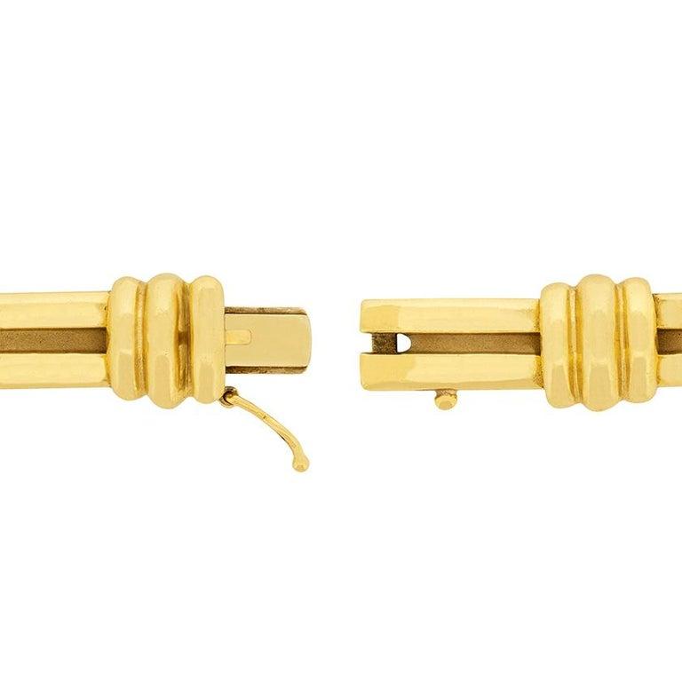 Modern Tiffany & Co. Yellow Gold Atlas Bracelet, circa 1990s For Sale