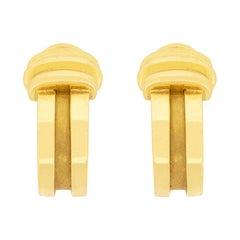 Tiffany & Co. Yellow Gold Atlas Earrings, circa 1990s