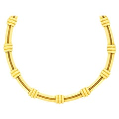 Tiffany & Co. Yellow Gold Atlas Necklace, circa 1990s