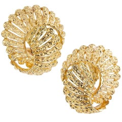Tiffany & Co. Yellow Gold Clip Post Back Earrings