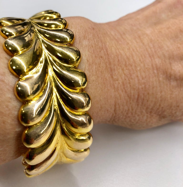 Tiffany & Co. Yellow Gold Cuff Bracelet For Sale 2