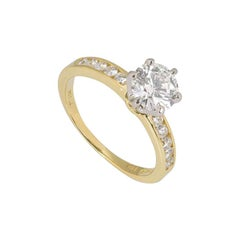Tiffany & Co. Yellow Gold Diamond Engagement Ring 1.08 Carat GIA Certified