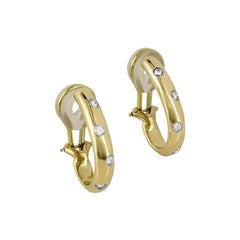 Tiffany & Co. Yellow Gold Diamond Set Etoile Earrings