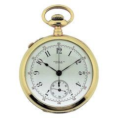 Tiffany & Co. Yellow Gold Enamel Dial Split Seconds Chronograph