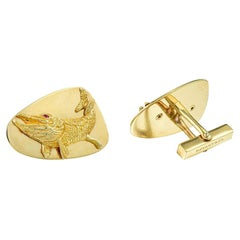 Tiffany & Co. Yellow Gold Fish Vintage Cufflinks