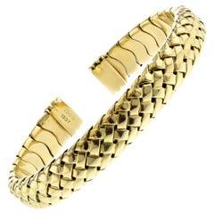 Tiffany & Co. Yellow Gold Flexible Cuff Bracelet