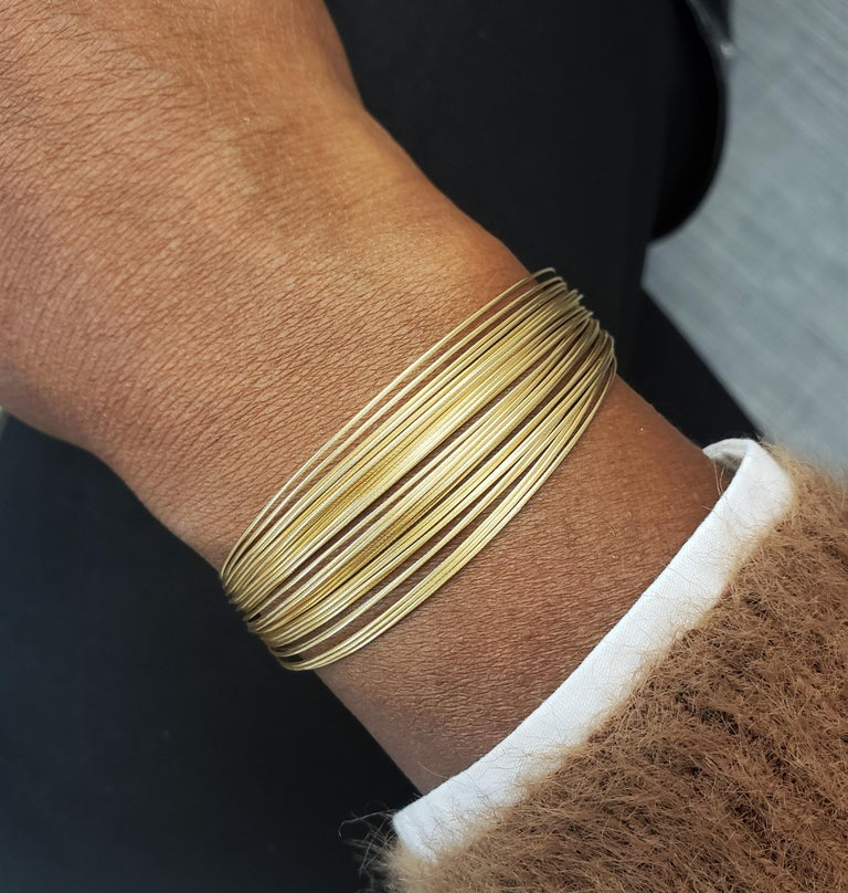 Tiffany & Co. Yellow Gold Flexible Multi-Strand Wire Bracelet For Sale 3