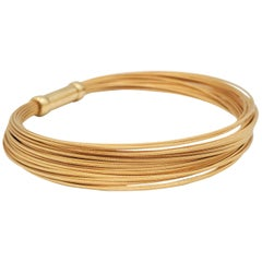 Tiffany & Co. Yellow Gold Flexible Multi-Strand Wire Bracelet