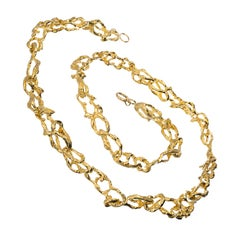Tiffany & Co. Yellow Gold Free Style Link Necklace