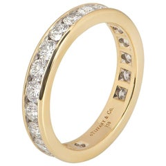 Tiffany & Co. Yellow Gold Full Diamond Eternity Band Ring 1.89 Carat