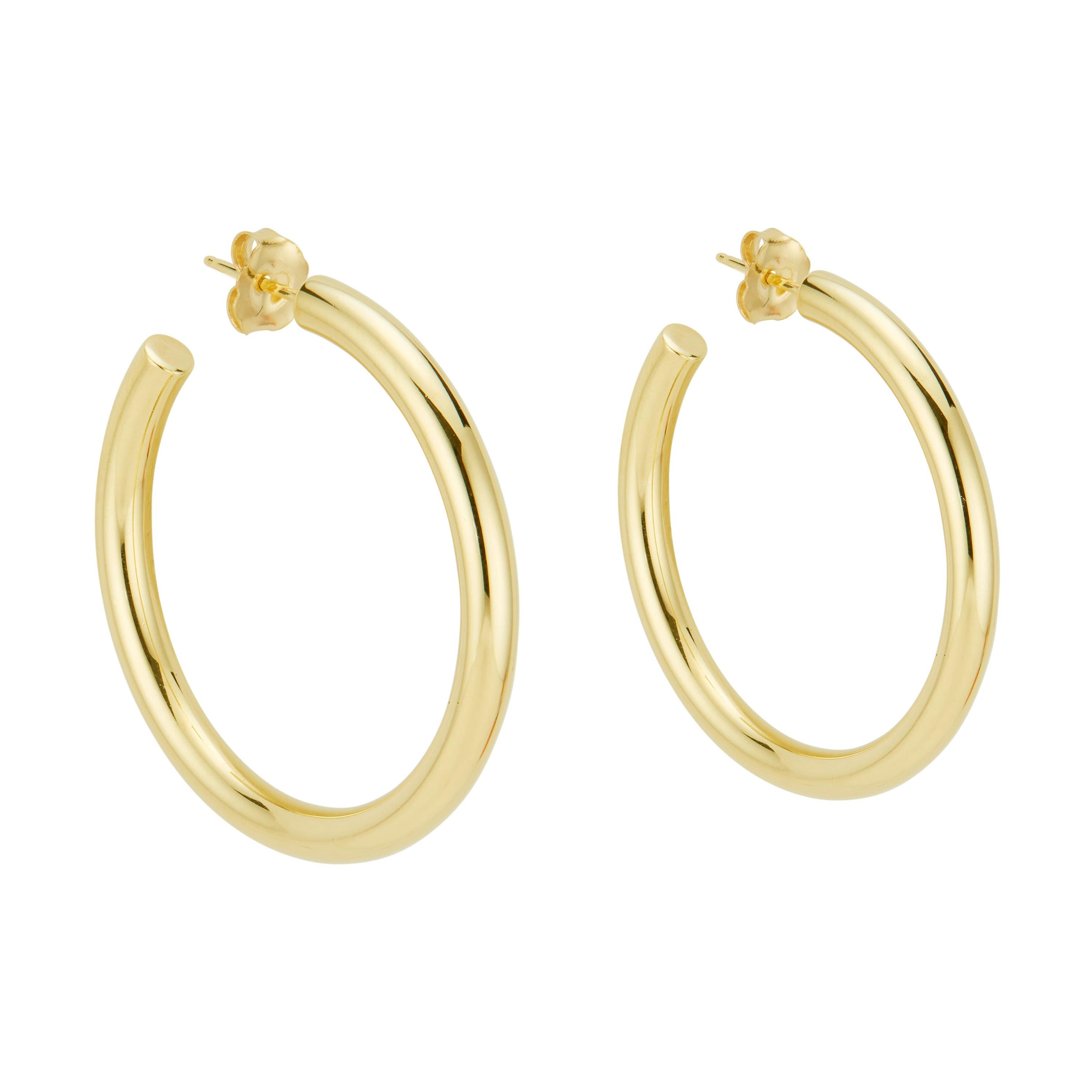 Tiffany & Co Yellow Gold Hoop Earrings
