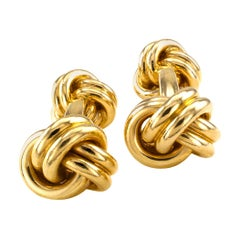 Tiffany & Co. Yellow Gold Knot Cufflinks