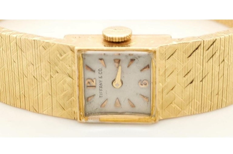 Tiffany & Co. Yellow Gold Ladies Watch For Sale 2