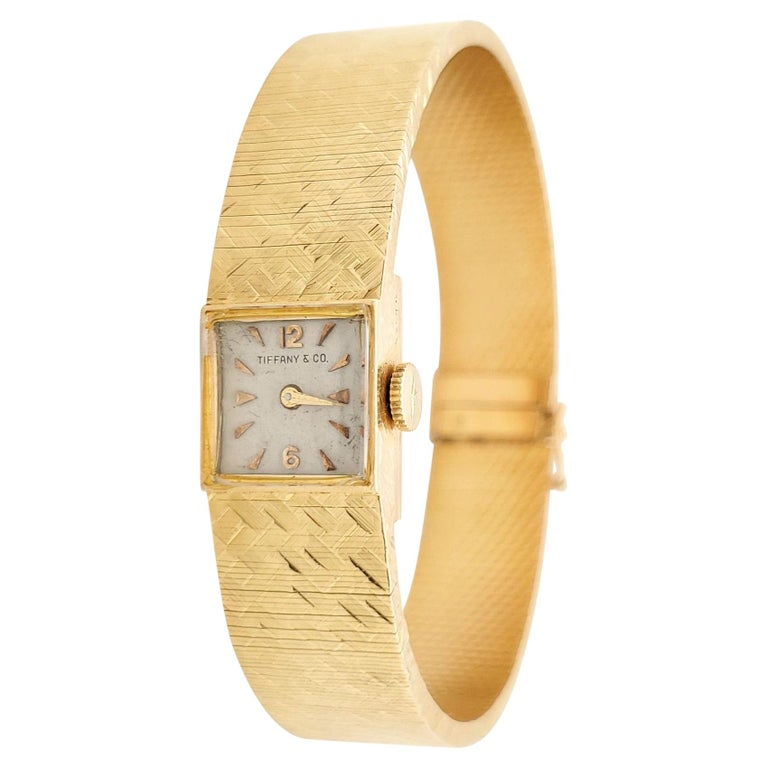Tiffany & Co. Yellow Gold Ladies Watch For Sale