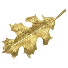 Tiffany & Co. Yellow Gold Leaf Brooch