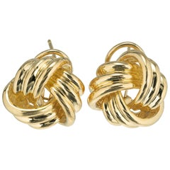 Tiffany & Co. Yellow Gold Love Knot Earrings