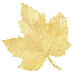 Tiffany & Co. Yellow Gold Maple Leaf Brooch