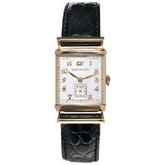 Tiffany & Co. Yellow Gold Men's Hooded Wristwatch