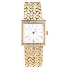 Tiffany & Co. Yellow Gold Mesh Band Ladies Wristwatch