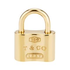 Tiffany & Co Yellow Gold Padlock Charm