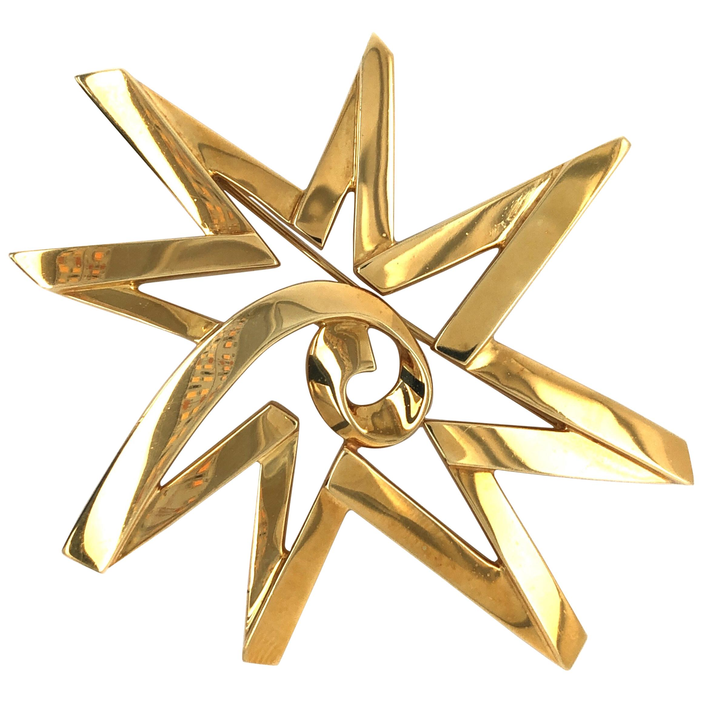 Tiffany & Co Yellow Gold Paloma Picasso Star Pin