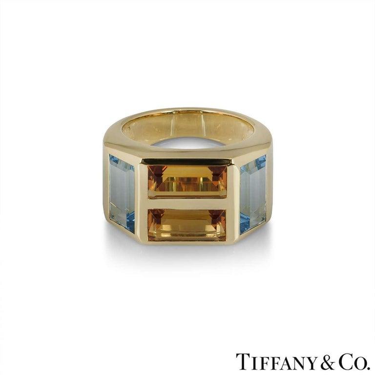 Emerald Cut Tiffany & Co. Yellow Gold Paloma Picasso Studio Ring