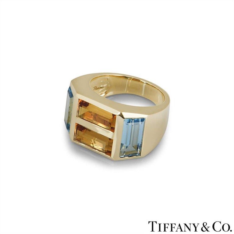 Tiffany & Co. Yellow Gold Paloma Picasso Studio Ring In Excellent Condition In London, GB