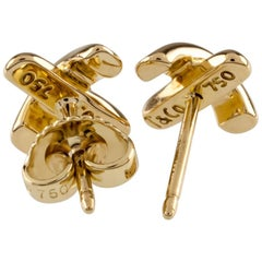 Tiffany & Co. Yellow Gold Paloma Picasso X Stud Earrings Butterfly Back